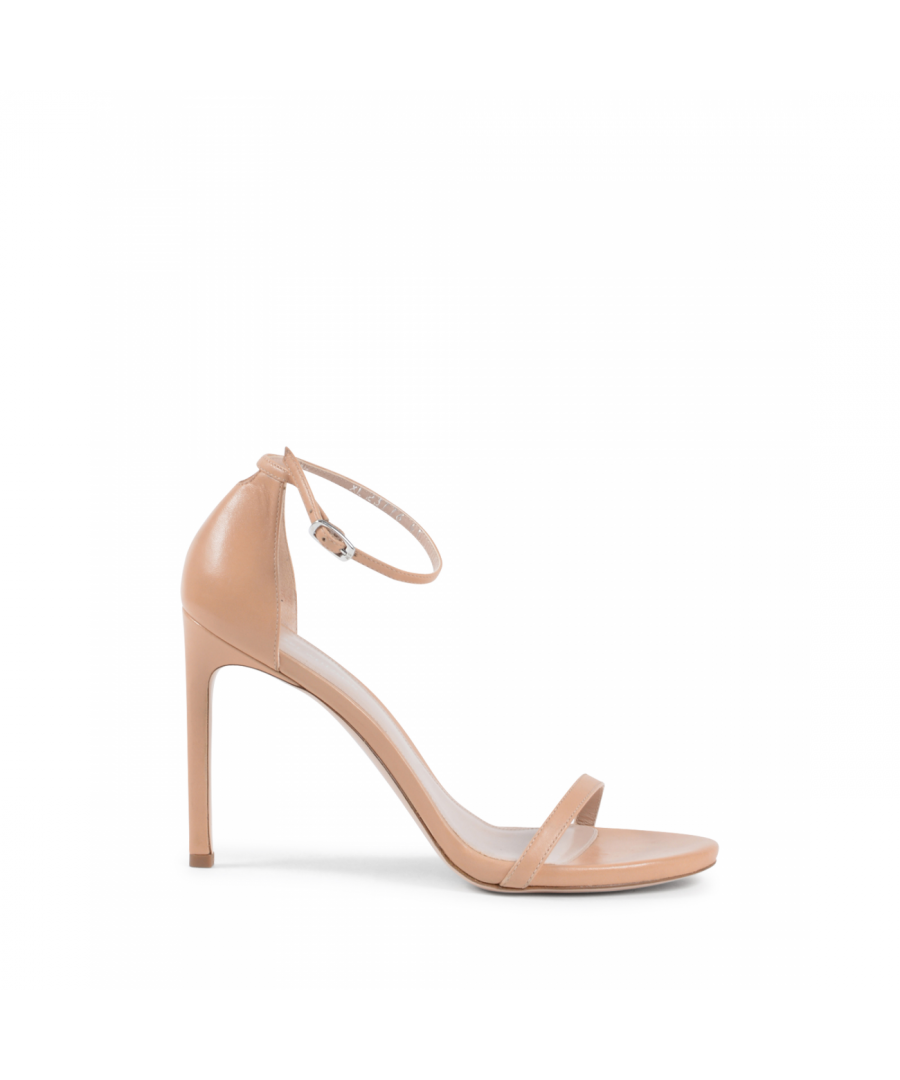 Image for Stuart Weitzman Womens Ankle Strap Sandal Beige NUDISTSONG