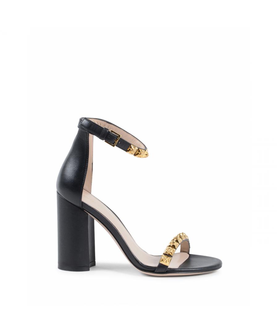 Image for Stuart Weitzman Womens Ankle Strap Sandal Black ROSEMARIE