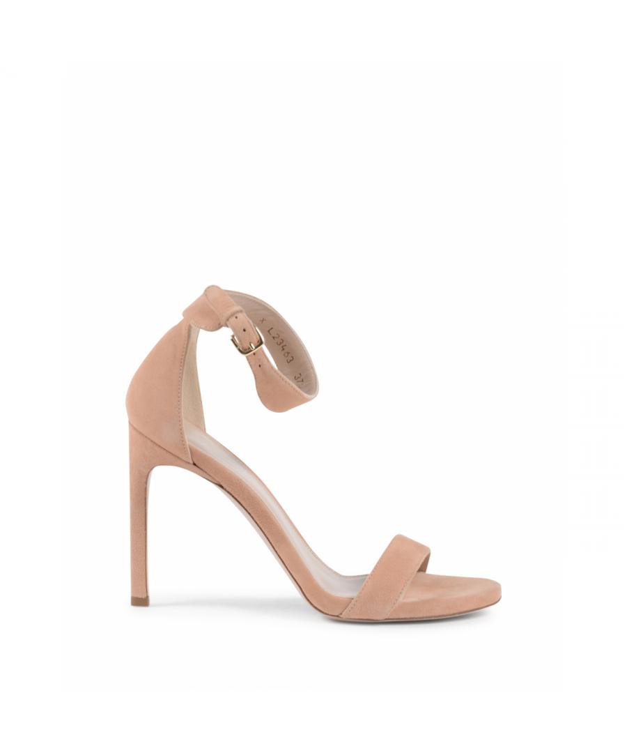 Image for Stuart Weitzman Womens Ankle Strap Sandal Pink BACKUPTIZ