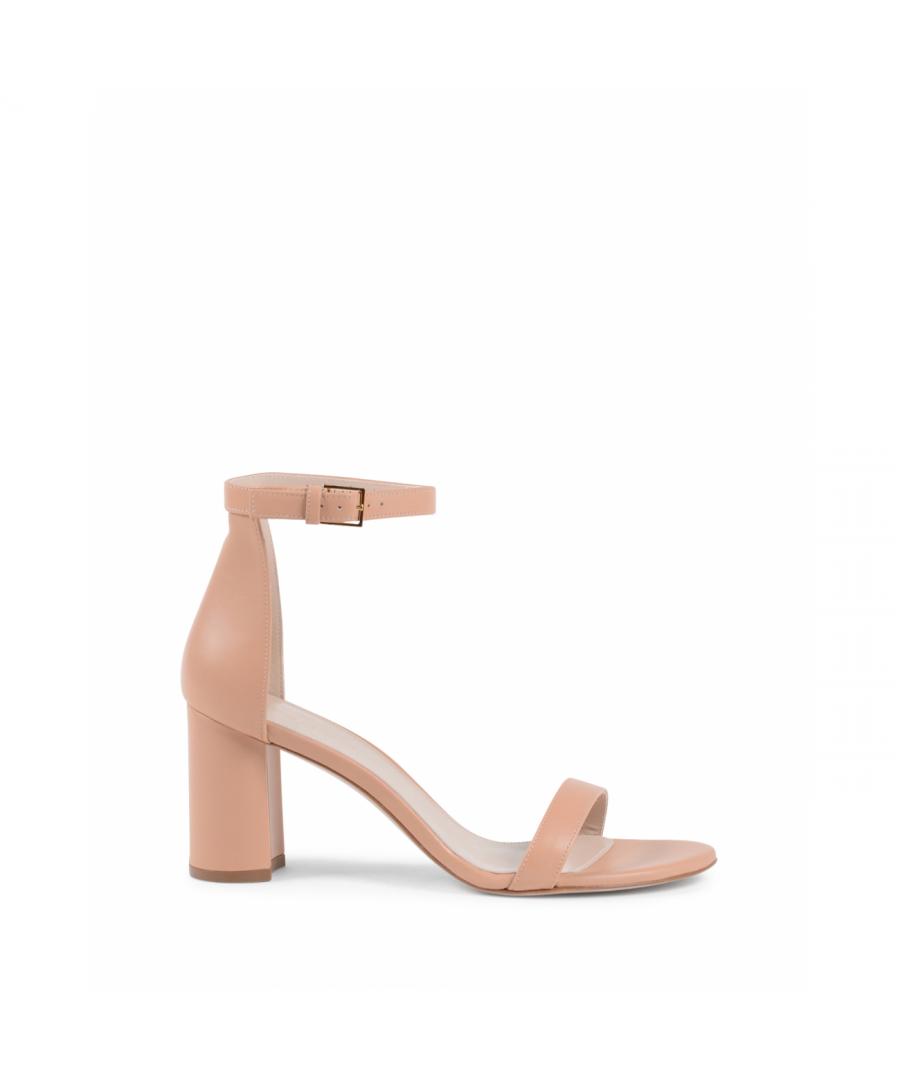 Image for Stuart Weitzman Womens Ankle Strap Sandal Pink LESSNUDIST