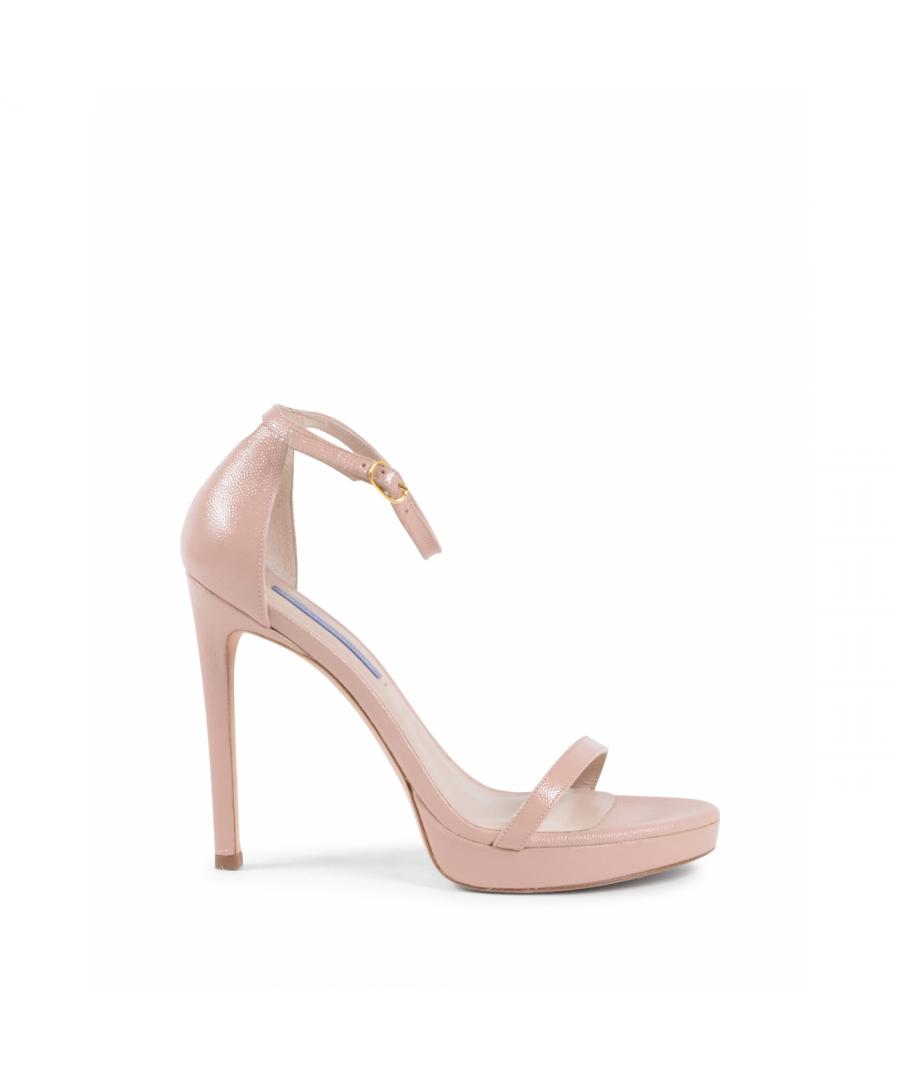 Image for Stuart Weitzman Womens Ankle Strap Sandal Pink NUDIST DISCO