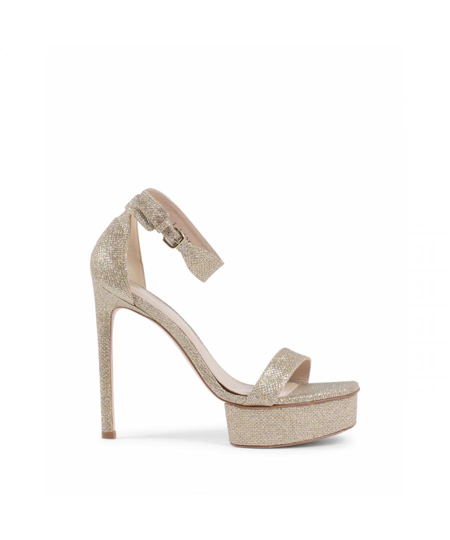 Image for Stuart Weitzman Womens Ankle Strap Sandal Platinum BACKUPPLAT