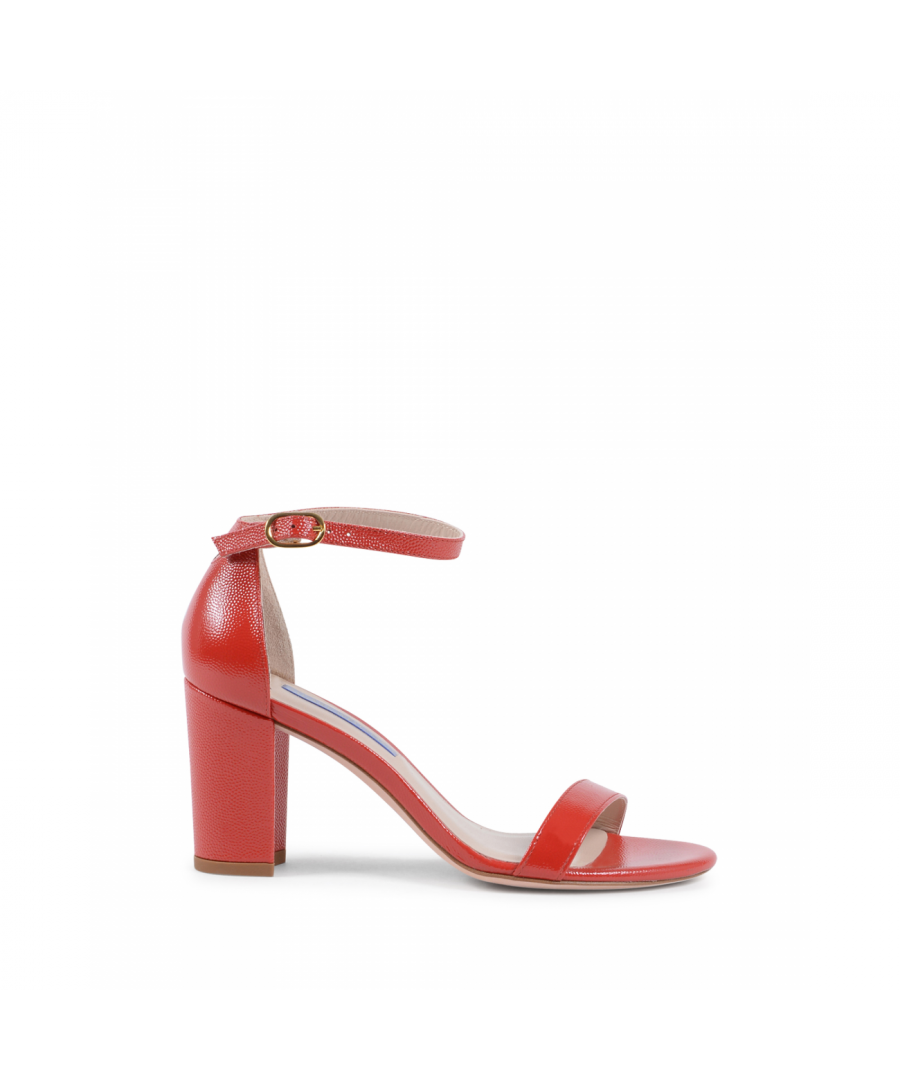 Image for Stuart Weitzman Womens Ankle Strap Sandal Red NEARLYNUDE