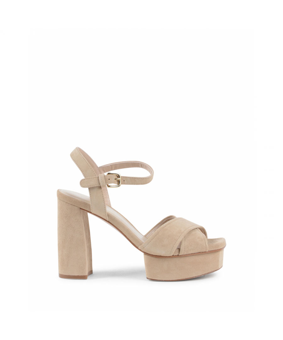 Image for Stuart Weitzman Womens Sandal Beige EXPOSED