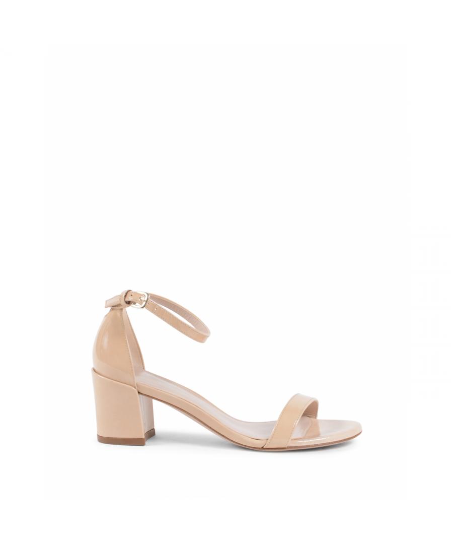 Image for Stuart Weitzman Womens Sandal Beige SIMPLE