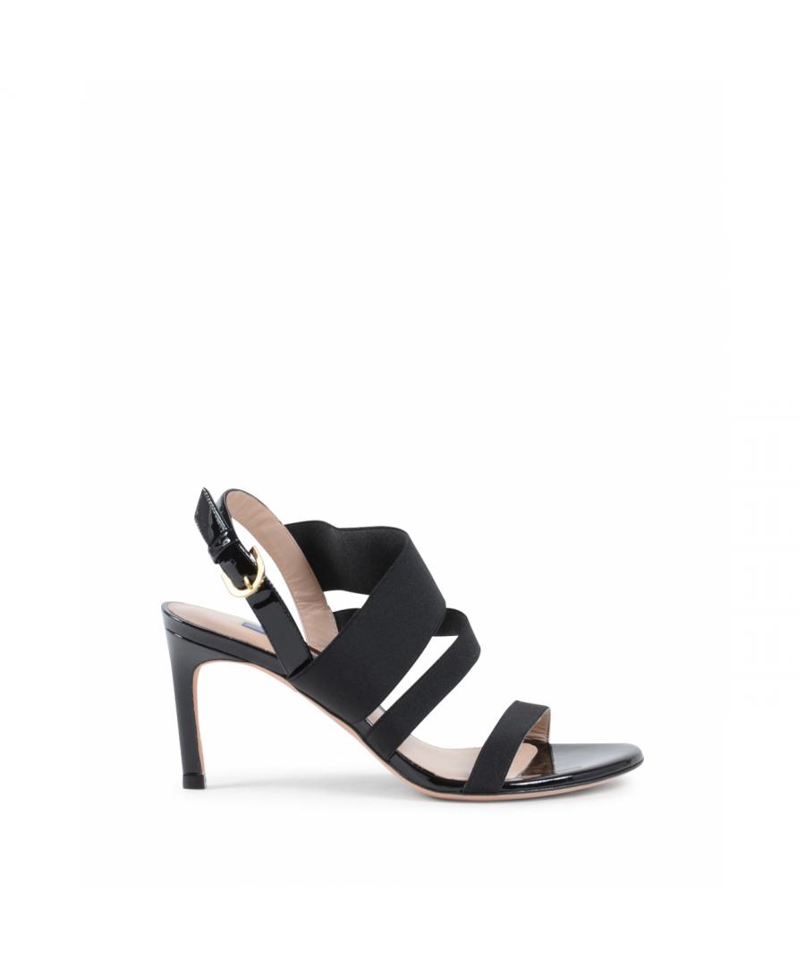 Image for Stuart Weitzman Womens Sandal Black ADRIENNE