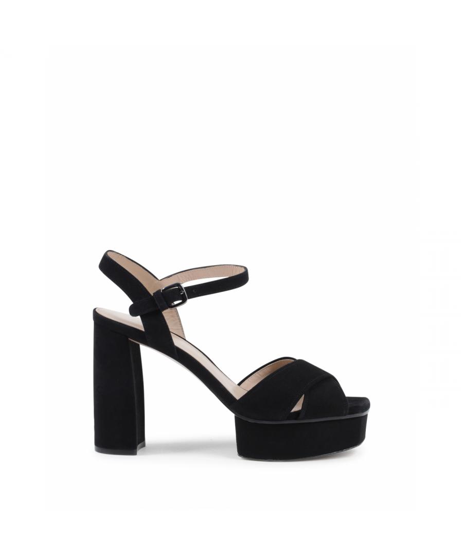 Image for Stuart Weitzman Womens Sandal Black EXPOSED