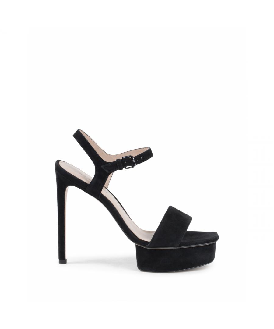 Image for Stuart Weitzman Womens Sandal Black Singleplat