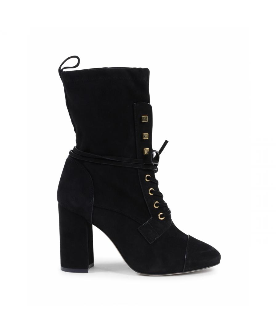 Image for Stuart Weitzman Womens Short Boot Black VERUKA