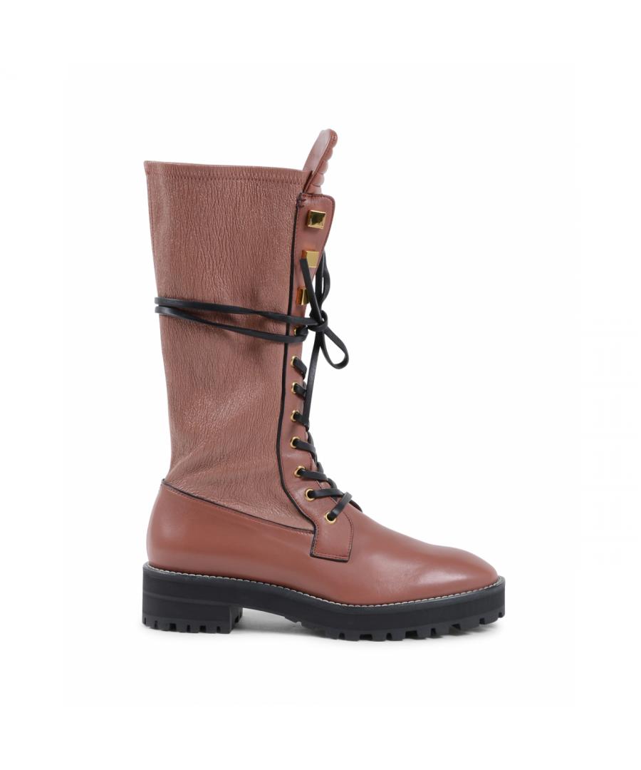 Image for Stuart Weitzman Womens Short Boot Brown ELSPETH