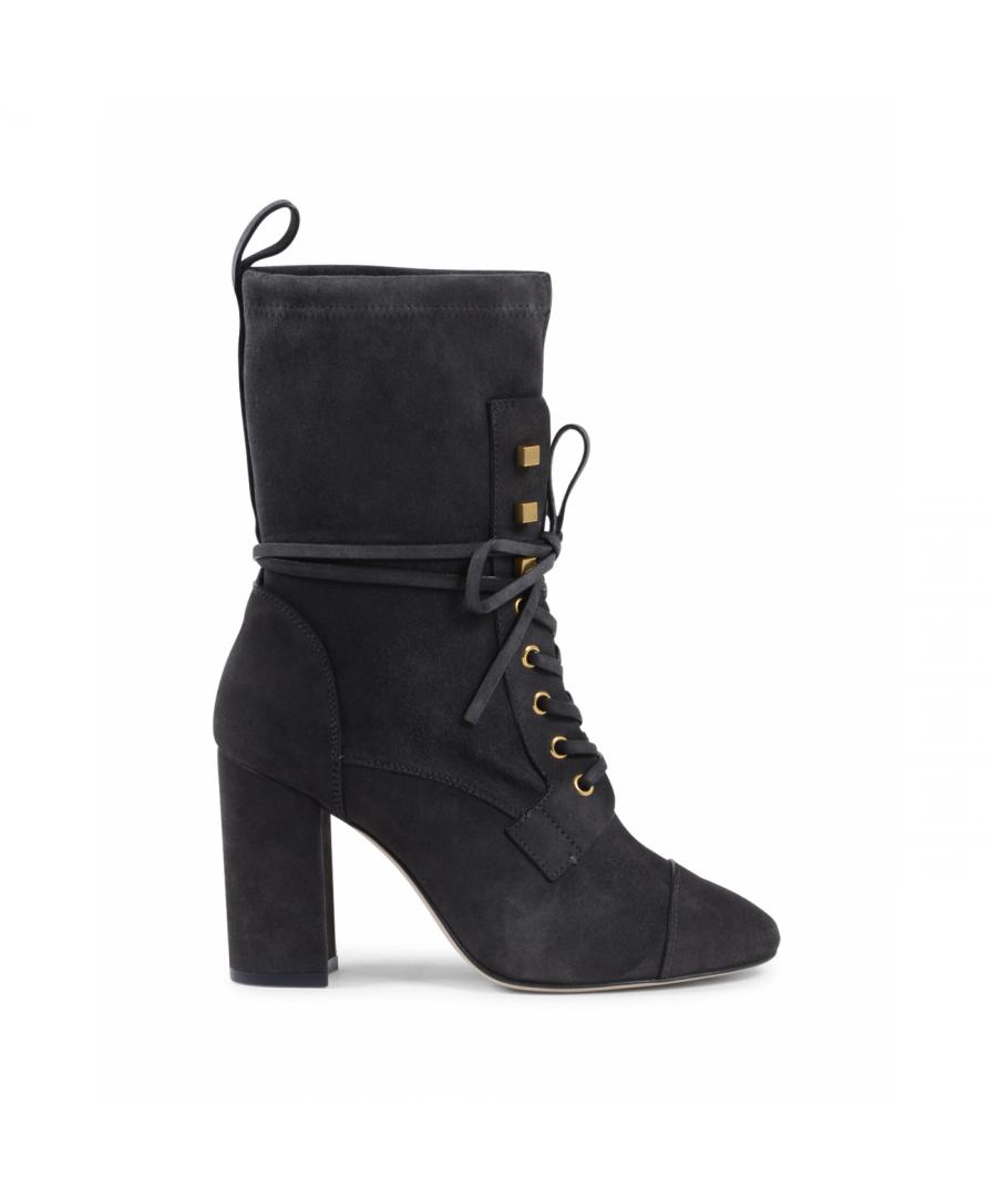 Image for Stuart Weitzman Womens Short Boot Dark Grey VERUKA