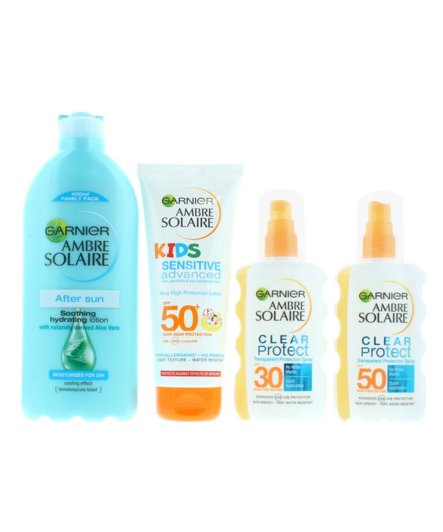 Image for Ambre Solaire Family Sun Care Kit - After Sun, 1x SPF30, 1x SPF50 and Kids SPF50