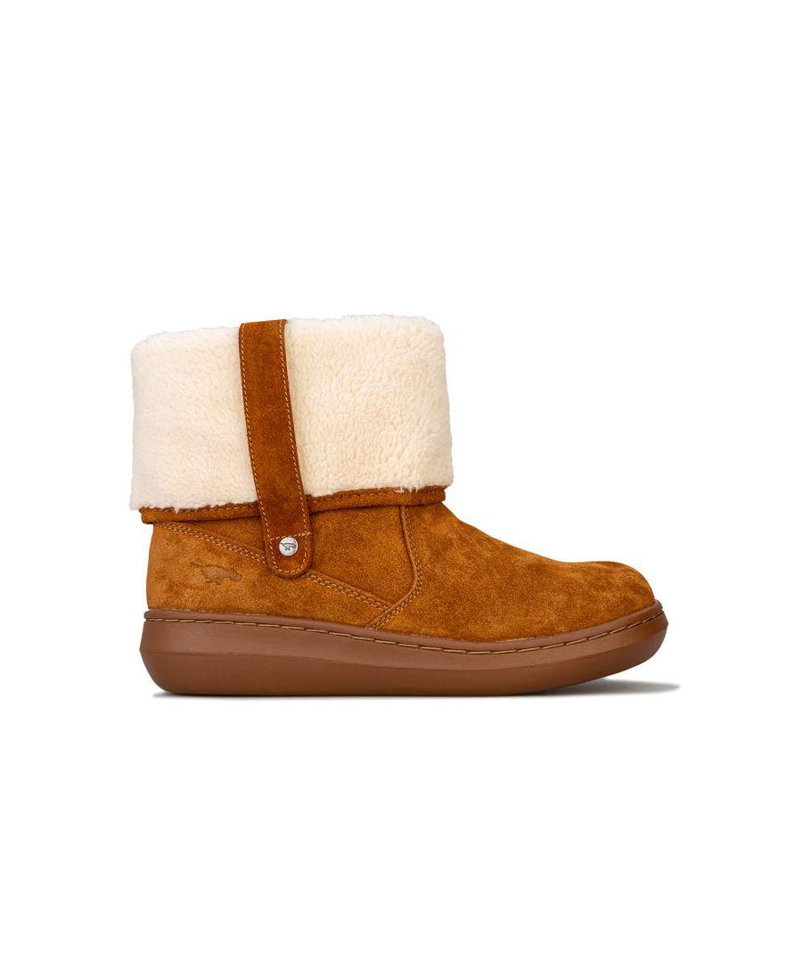 Image for Women's Rocket Dog Sugar Mint Suede Boots in Chestnut