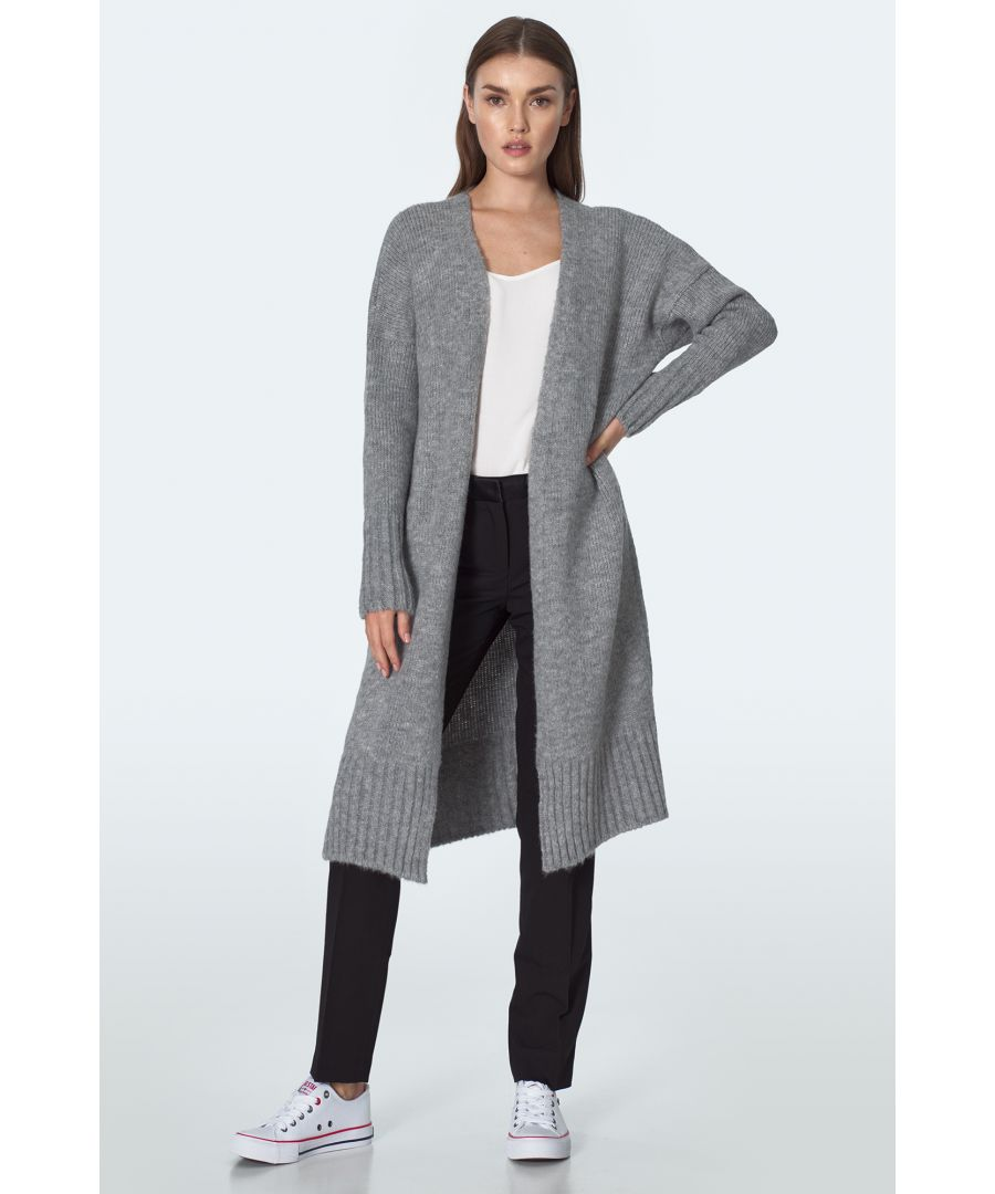 Image for Long cardigan in gray