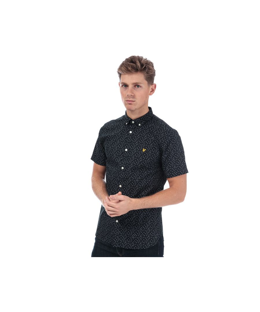 Image for Men's Lyle And Scott Print Shirt in Navy