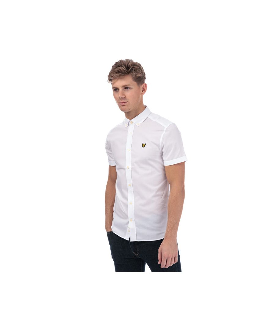 Image for Men's Lyle And Scott Slim Stretch Shirt in White