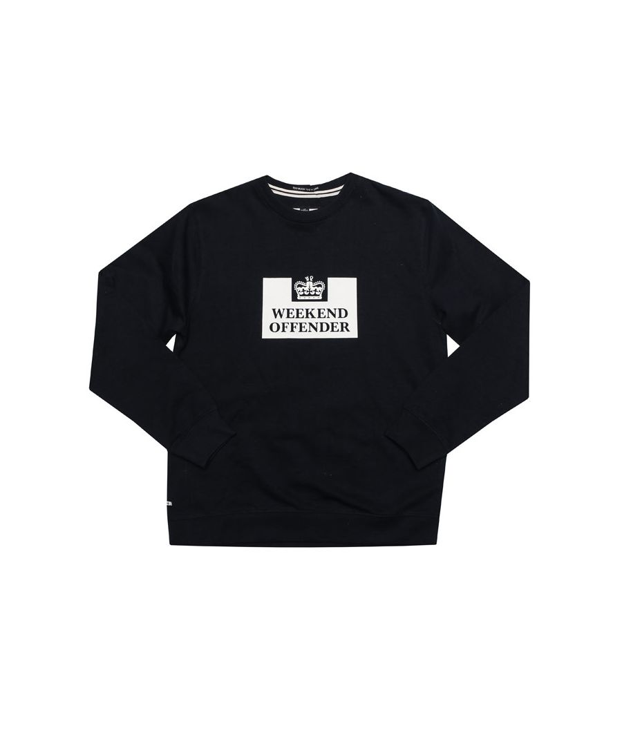 Image for Boy's Weekend Offender Junior Penitentiary Crew Swetshirt in Navy