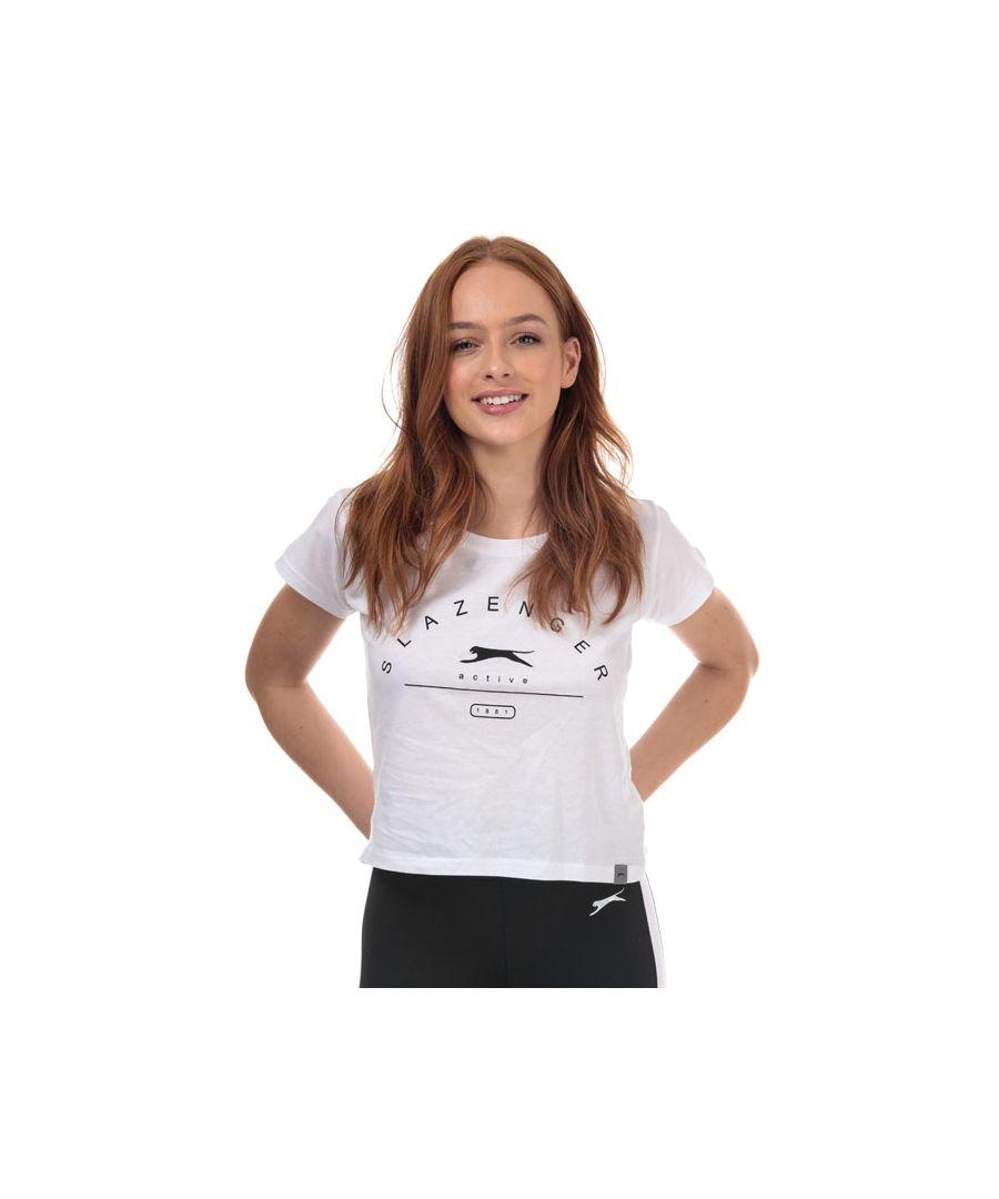 Image for Women's Slazenger Ilena Cropped T-Shirt in White