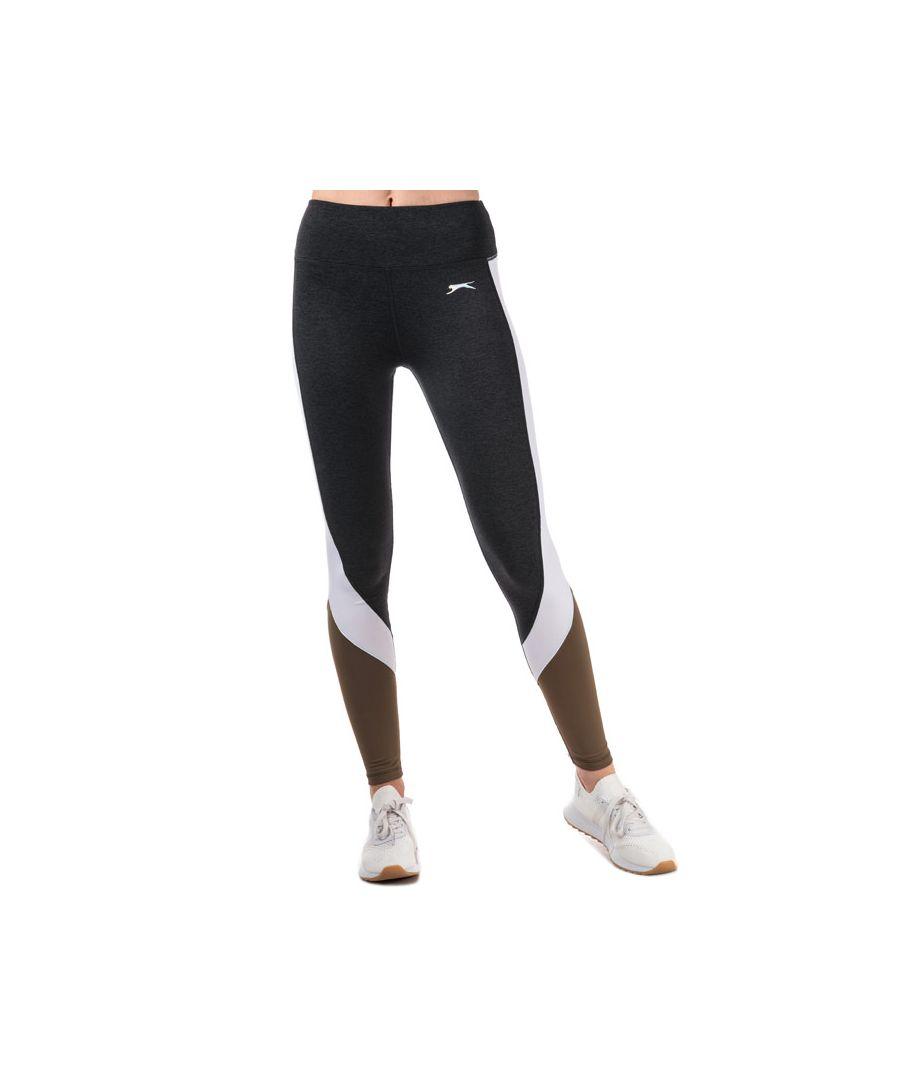 Image for Women's Slazenger Vision Colourblock Leggings in Khaki
