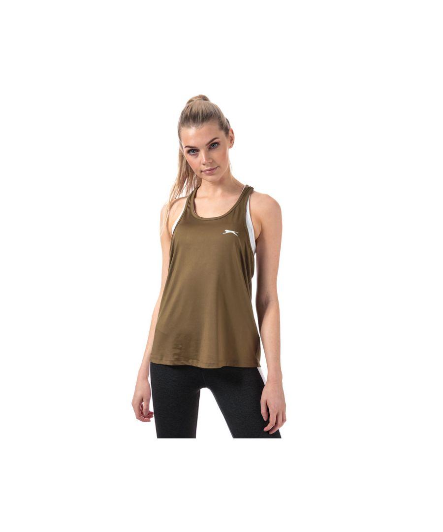 Image for Women's Slazenger Rogue Swing Vest Top in Khaki