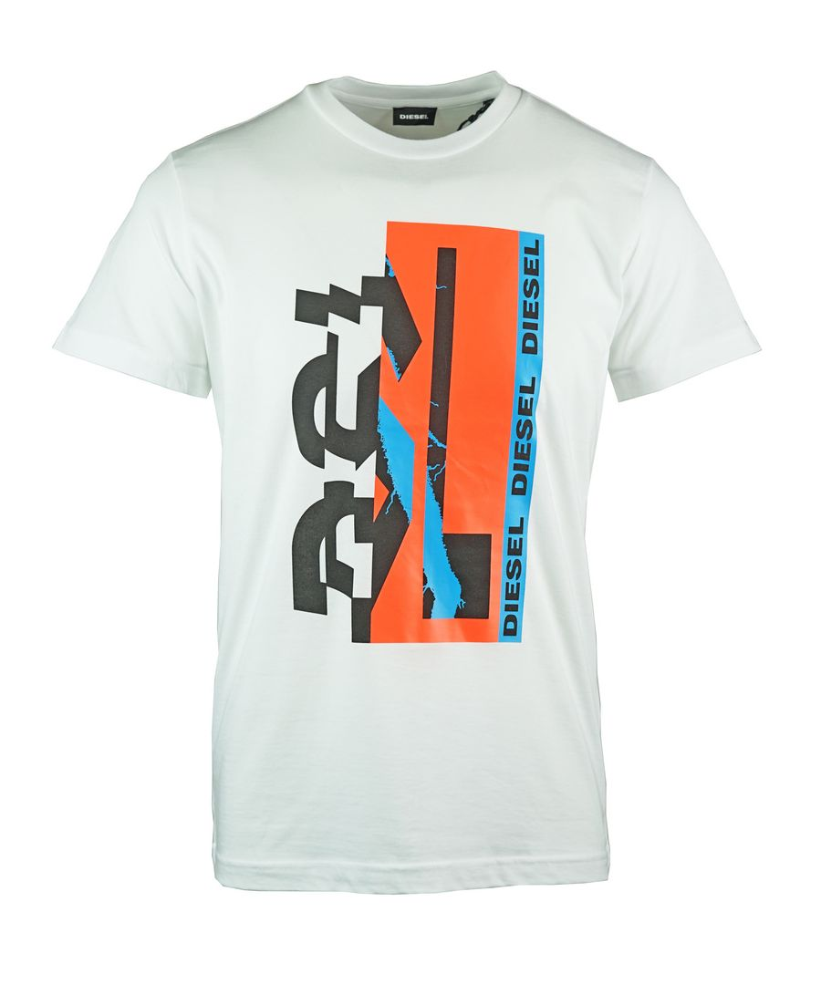 Image for Diesel T-Diego-YA 80's Graphic White T-Shirt