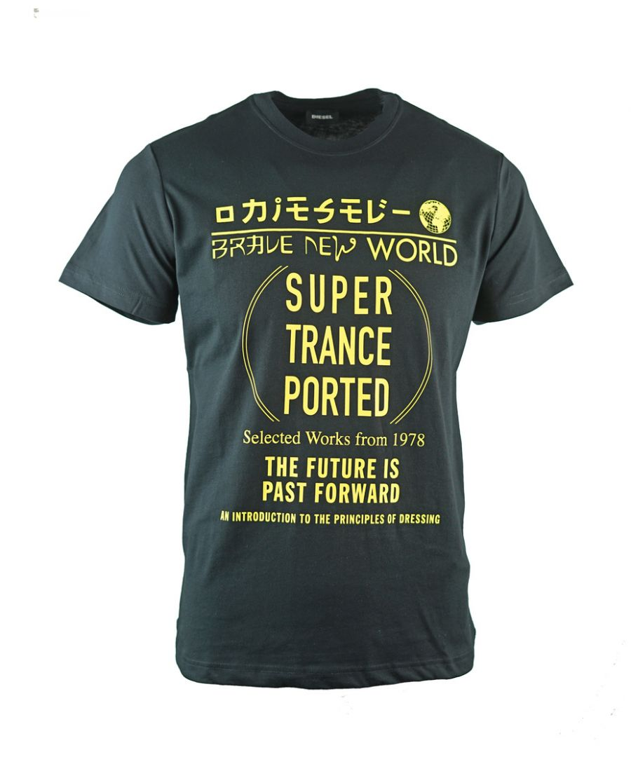 Image for Diesel T-Diego-YL Brave New World Black T-Shirt