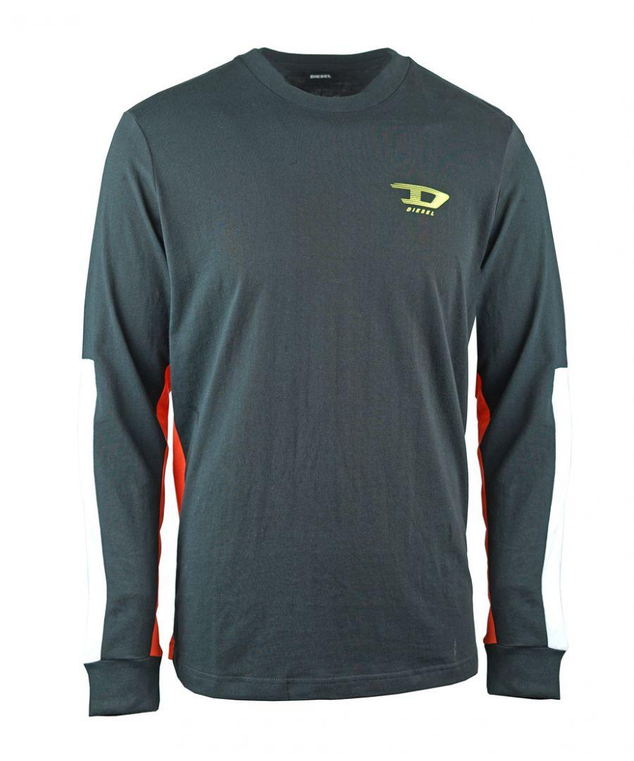 Image for Diesel T-Harus-LS Colour Block Black T-Shirt