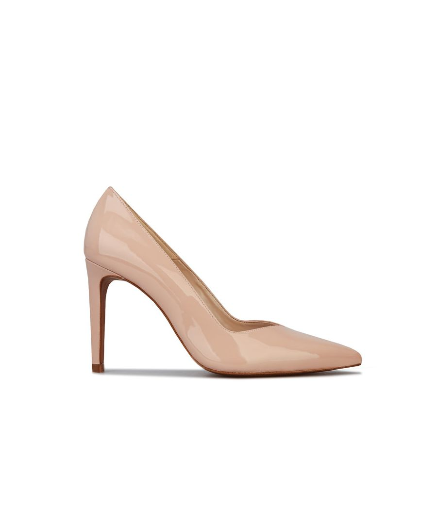 Image for Women's Karen Millen Ella Rise Patent Leather Shoes in Nude