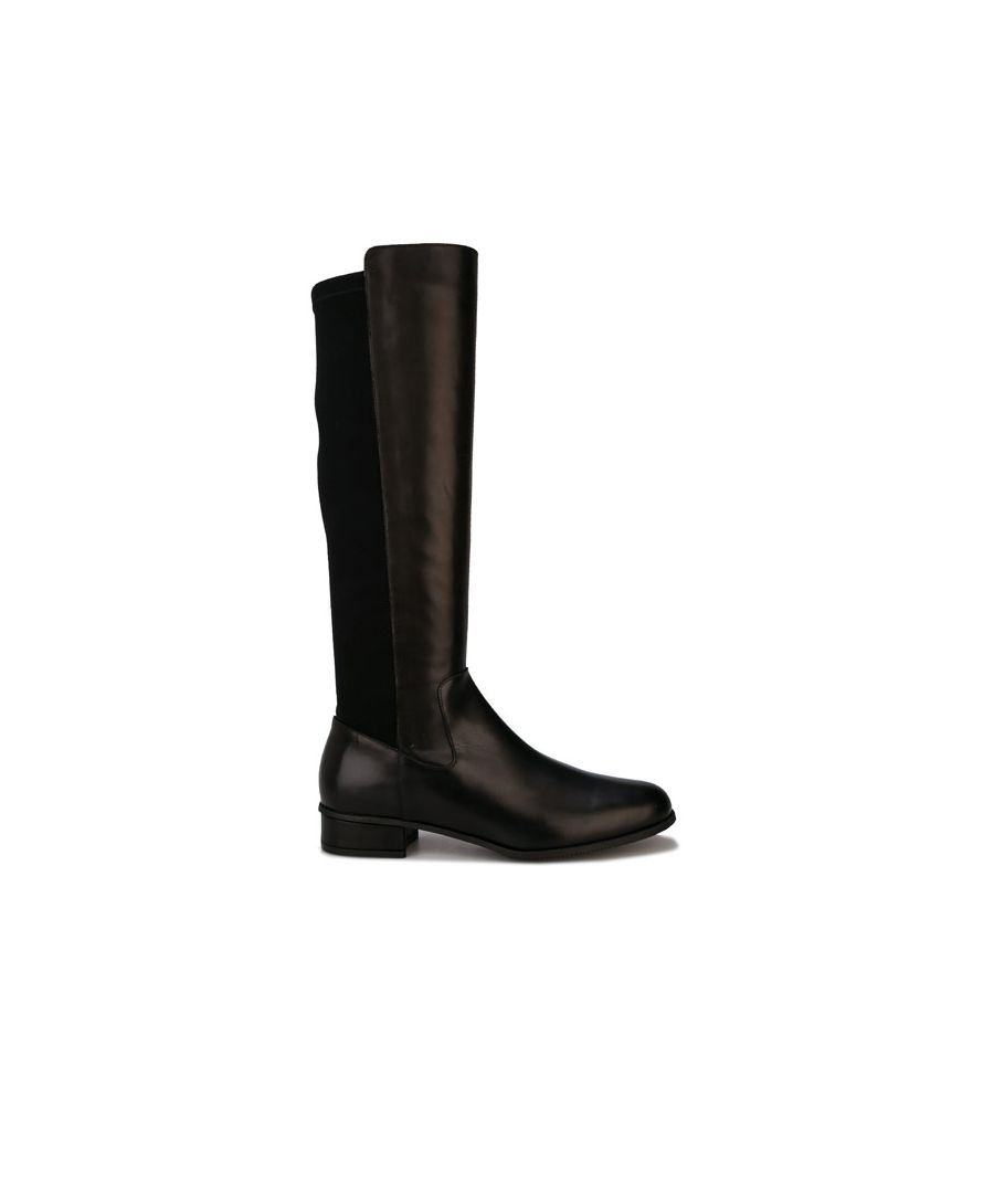 Image for Women's Karen Millen Olivia Step Knee High Boots in Black