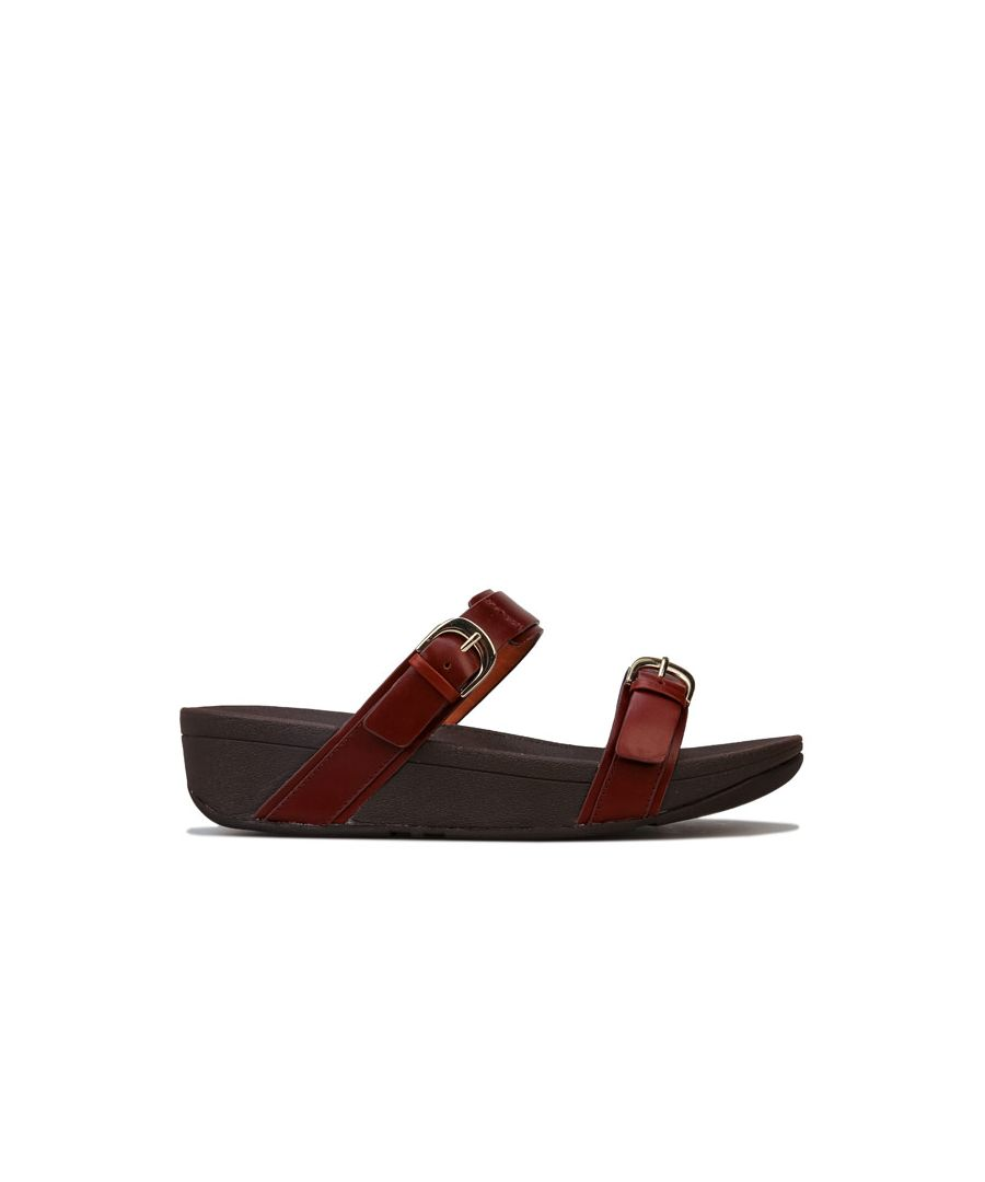 Image for Women's Fit Flop Edit Slide Sandals in Cognac