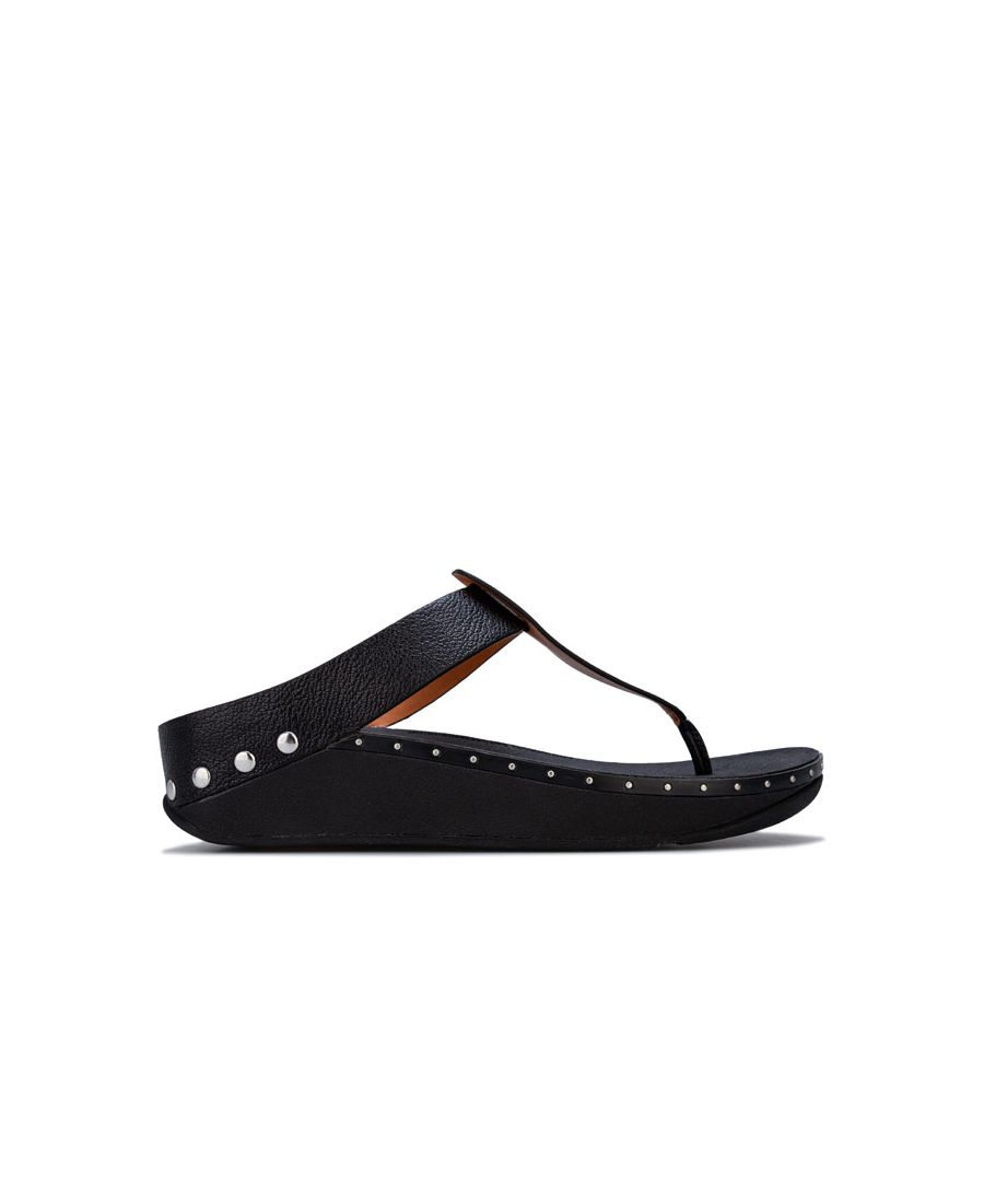 Image for Women's Fit Flop Isabelle Stud Toe Thong Sandals in Black