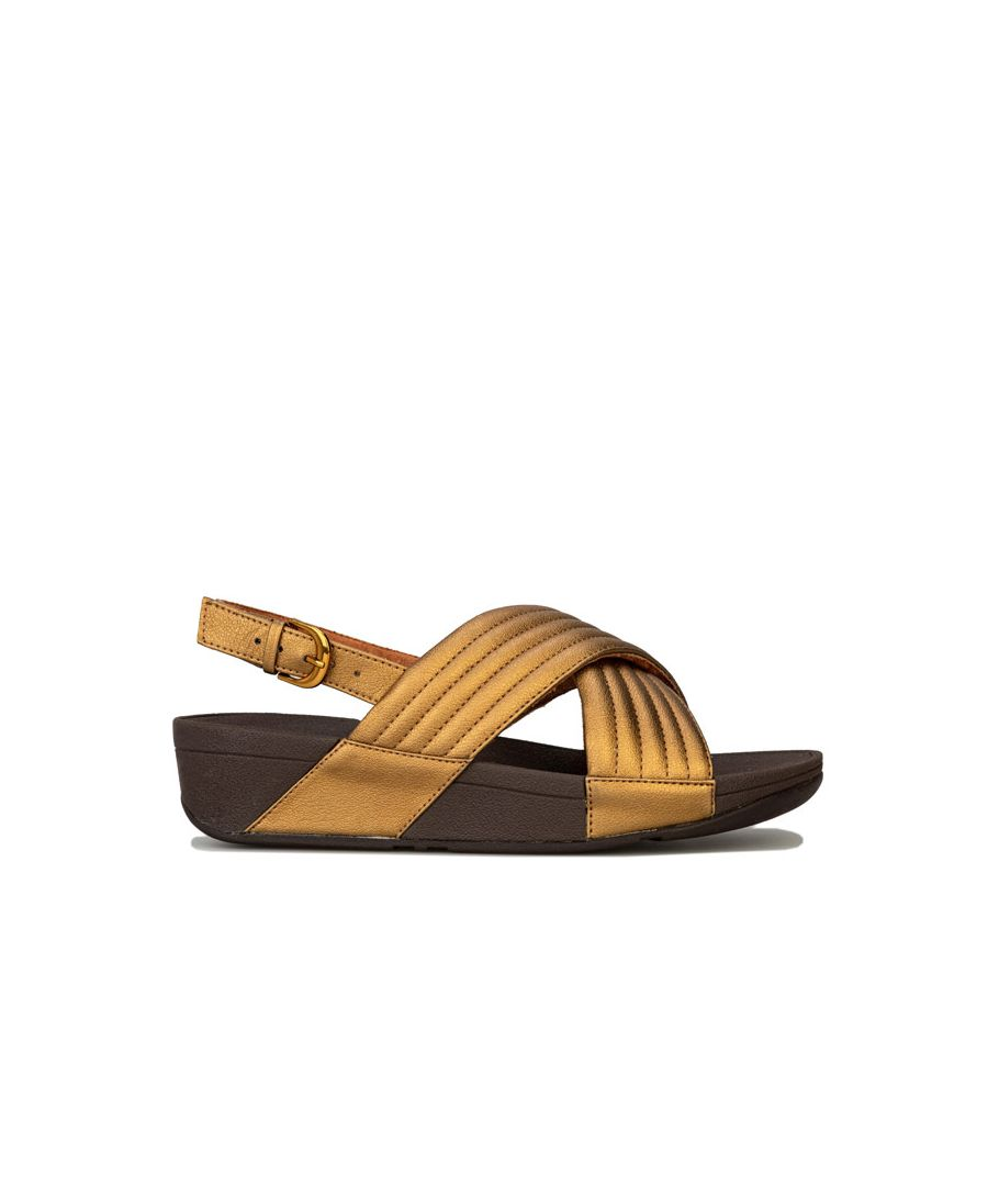 Image for Women's Fit Flop Lulu Padded Back Strap Sandals in Bronze