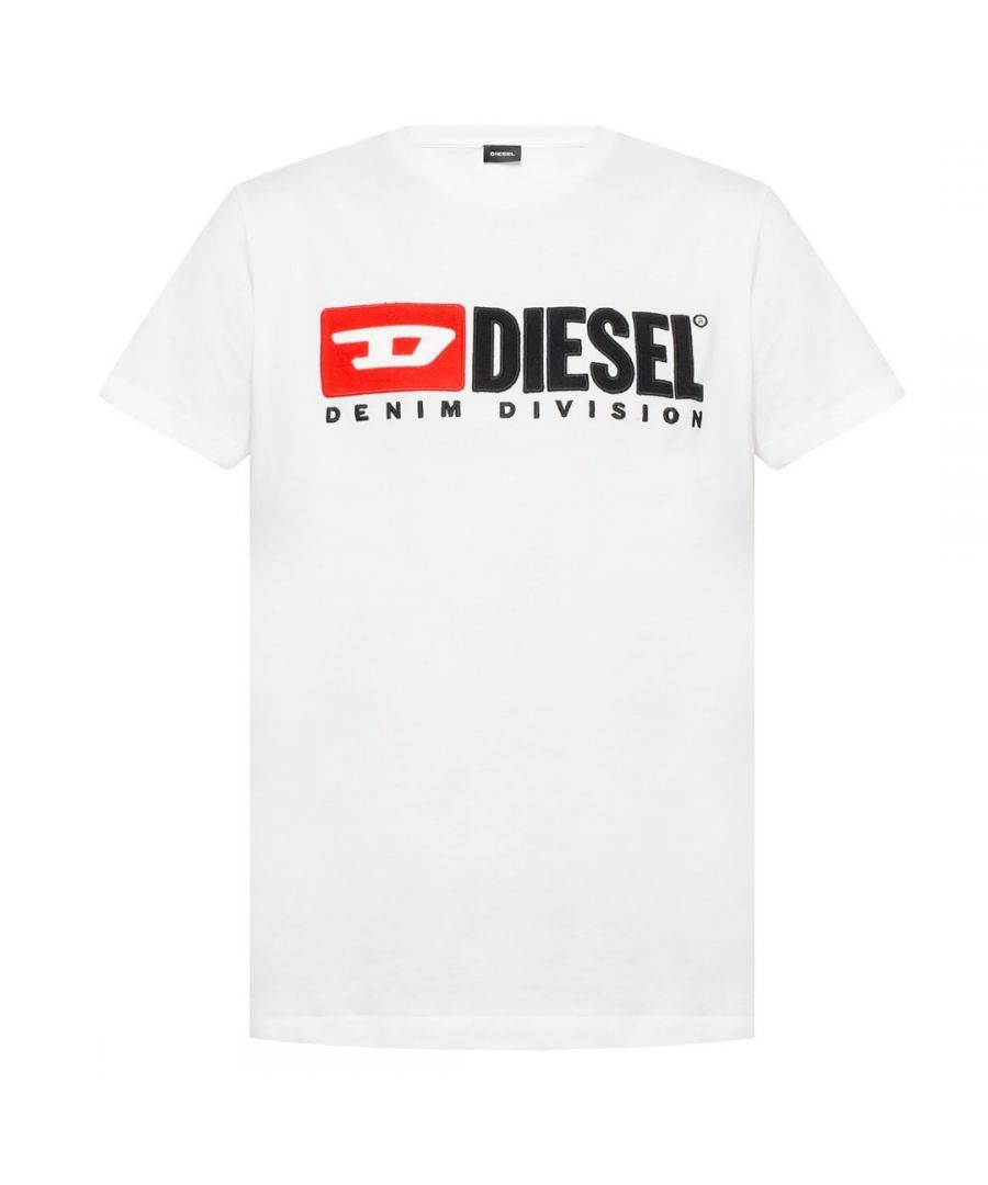 Image for Diesel T-Diego-Division Logo White T-Shirt