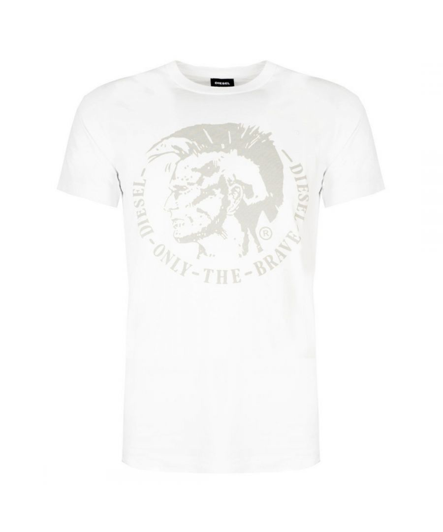 Image for Diesel T-Diego-FO Mohawk Logo White T-Shirt