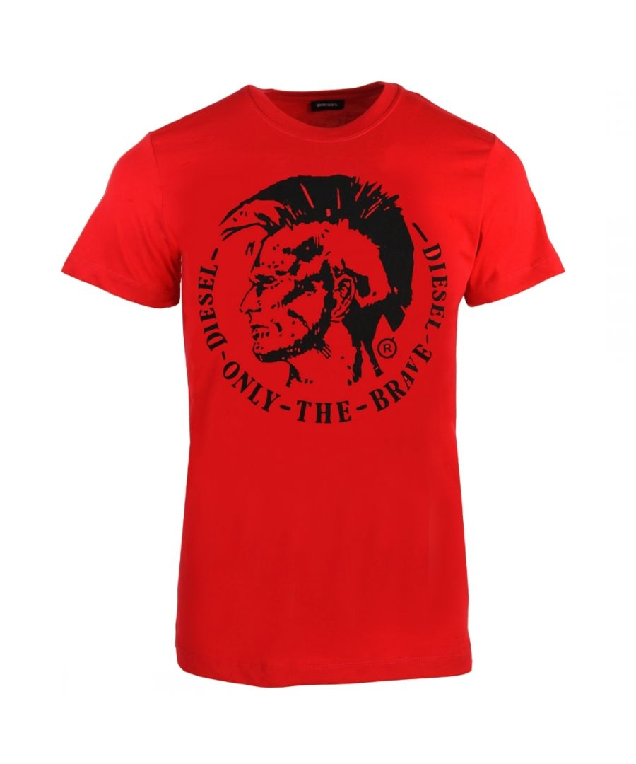 Image for Diesel T-Diego-FO Mohawk Logo Red T-Shirt