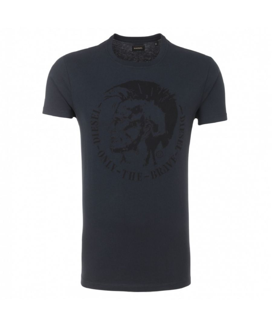 Image for Diesel T-Diego-FO Mohawk Logo Navy T-Shirt