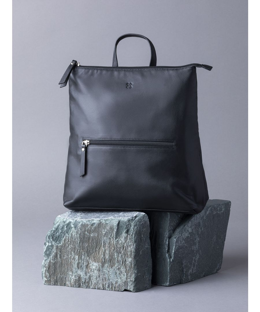 Image for Tally Leather Backpack in Black