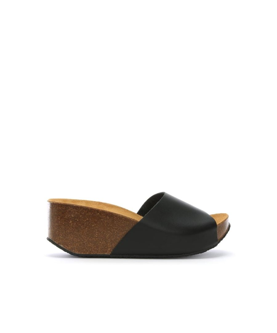 Image for DF By Daniel Tavernola Leather Wedge Mules