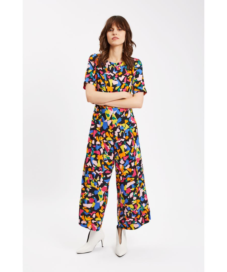 Image for Bianca Confetti Print Short Sleeve Jumpsuit
