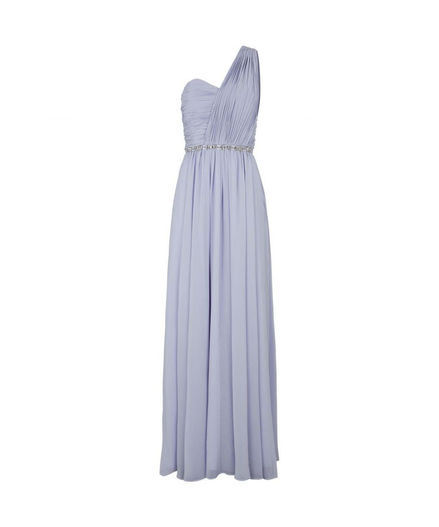 Image for Ted Baker Finella Layered One Shoulder Maxi Dress in Pale Blue