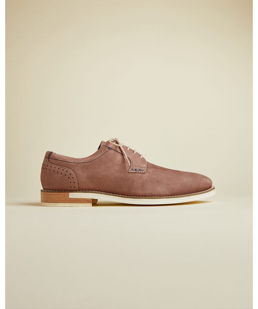 Image for Ted Baker Duglas Classic Derby Shoes, Deep Pink