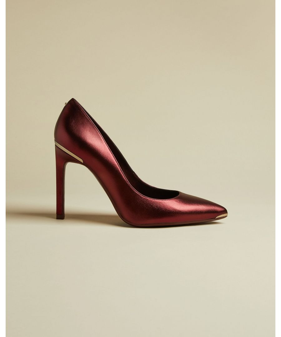 Image for Ted Baker Melnima Metallic Leather High Heel Court, Red