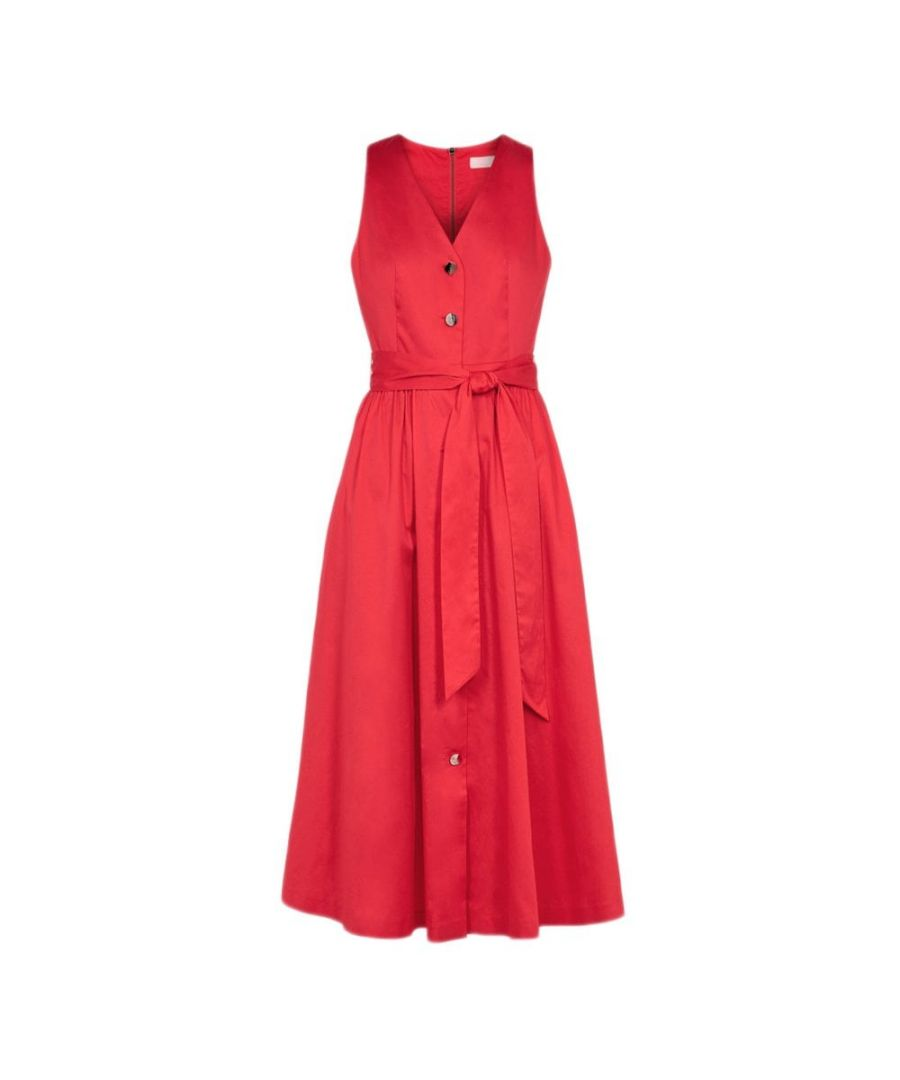Image for Ted Baker Ryylie Button Down Midi Dress, Bright Red