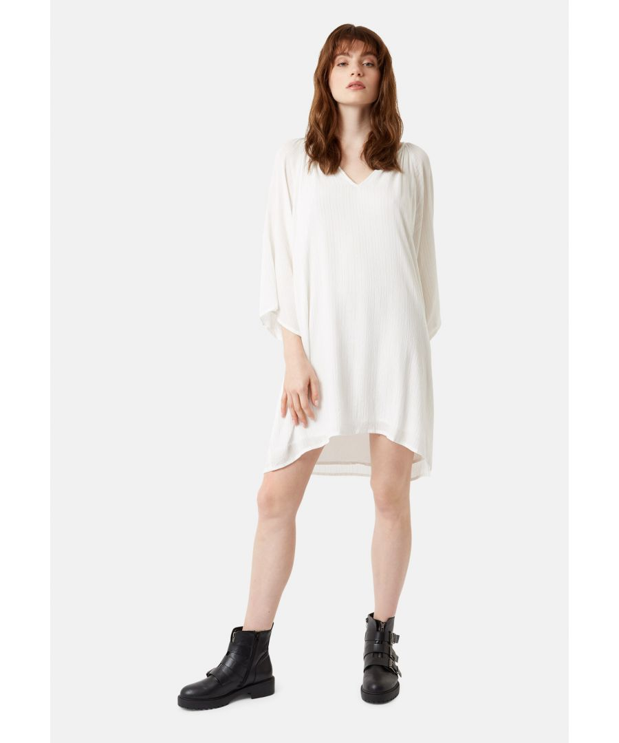 Image for Moments Metallic Stripe Mini Dress in White