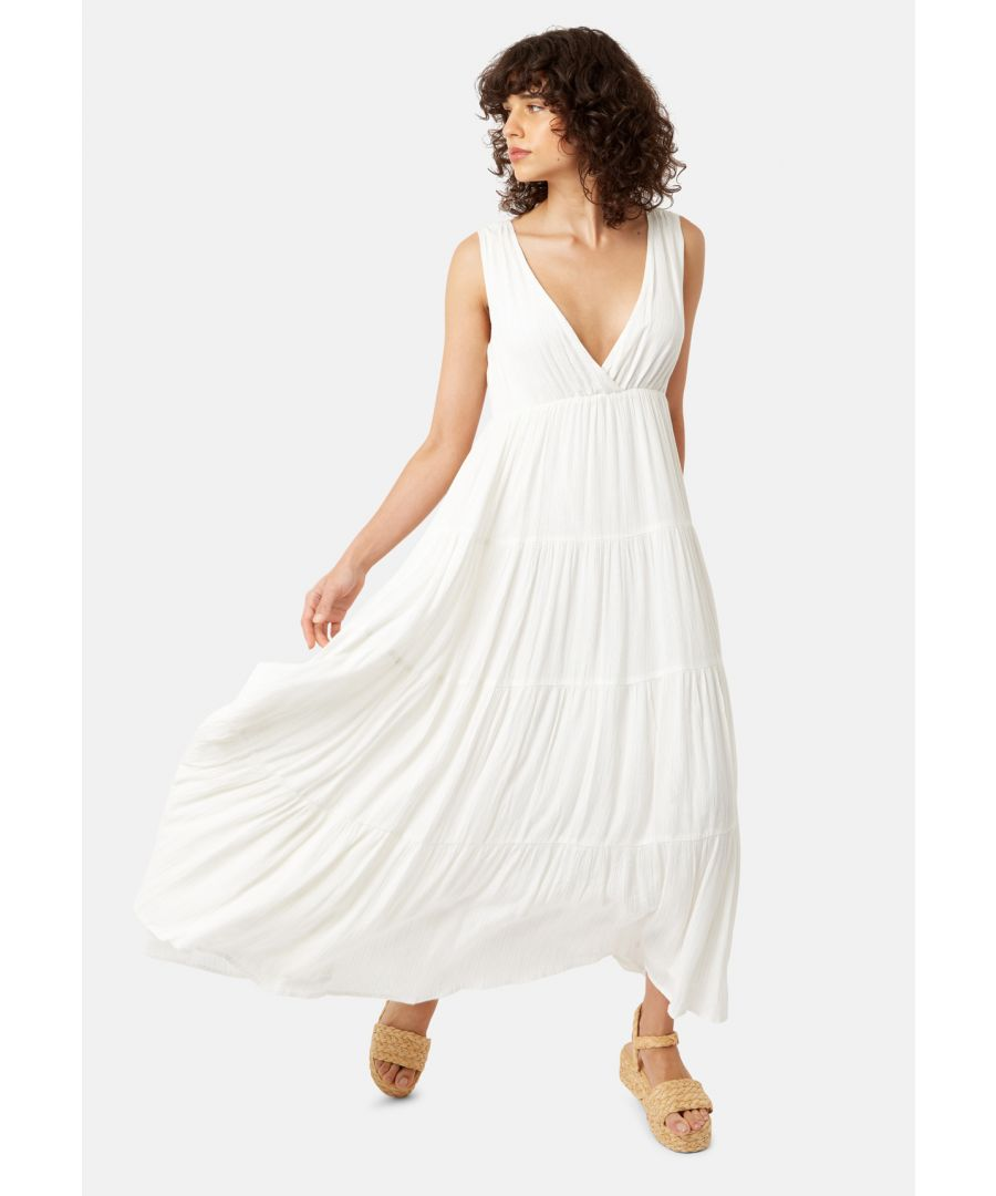 Image for Sleeveless Mellow Maxi Dress in White