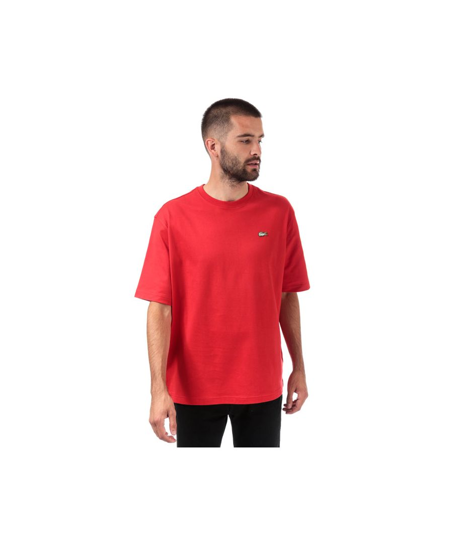 Image for Men's Lacoste Loose Cotton T-Shirt in Red