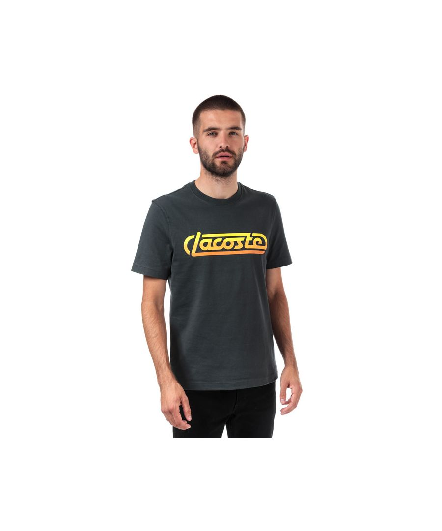 Image for Men's Lacoste Racing Signature Cotton T-Shirt in Grey