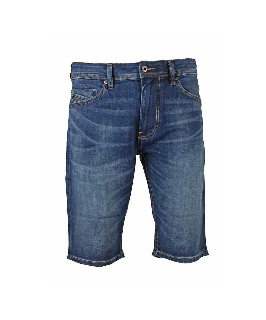 Image for Diesel Thoshort Medium Blue Denim Shorts