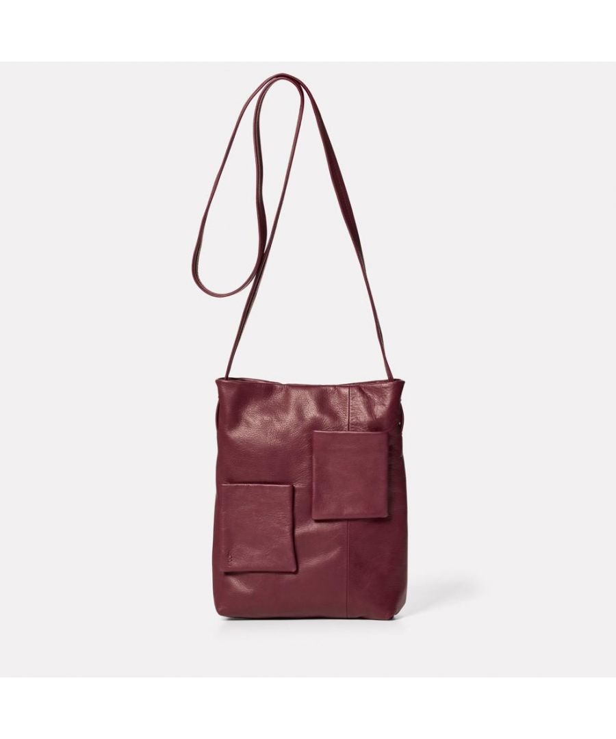 Image for Mimi Camlet Leather Crossbody Bag in Oxblood