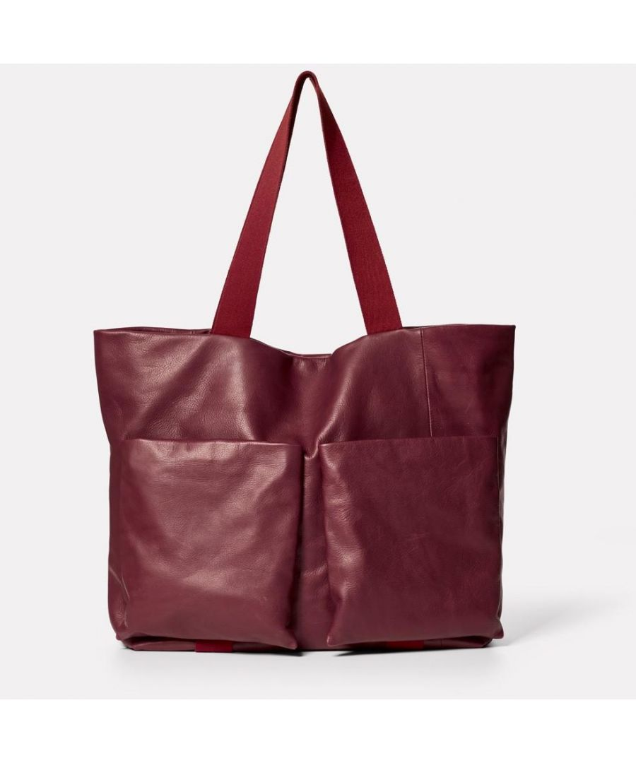 Image for Toto Camlet Leather Tote Bag in Oxblood
